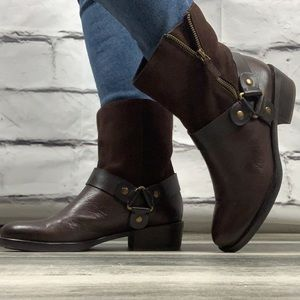 {Franco sarto} leather blend short boots